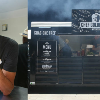 Jeff Goldblum is currently selling sausage out of a food truck, and what a time to be alive