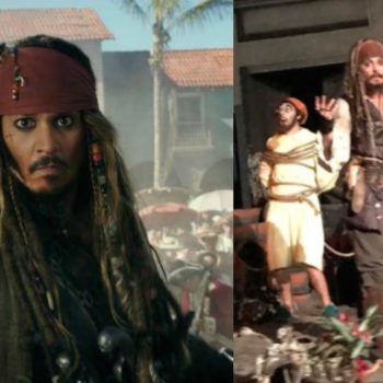 Johnny Depp dressed up as Captain Jack Sparrow and surprised guests on the Pirates ride at Disneyland — as you do