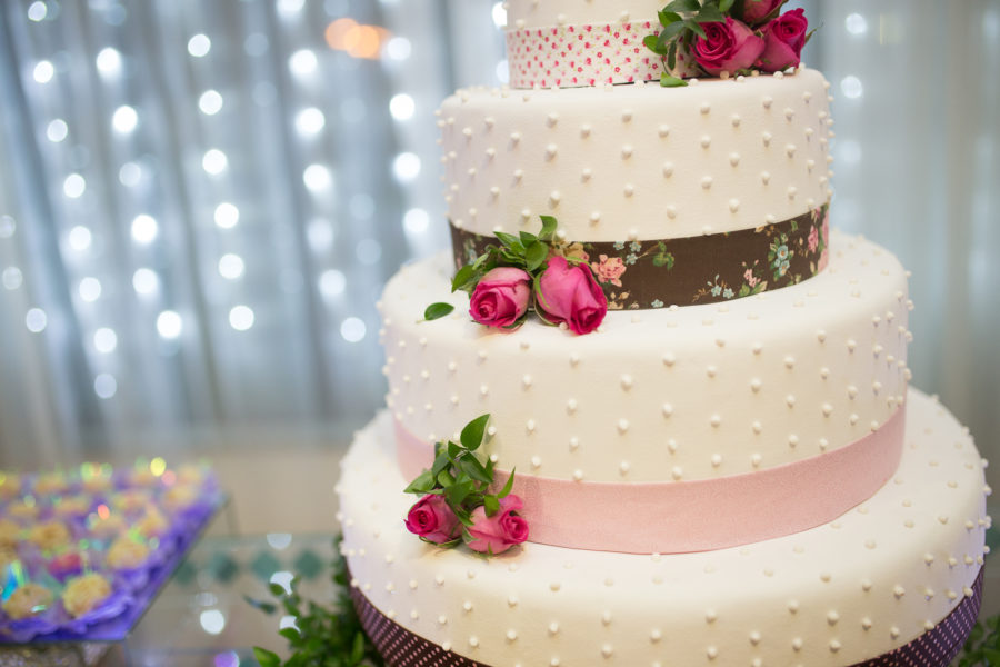 This viral wedding dress is made entirely out of cake