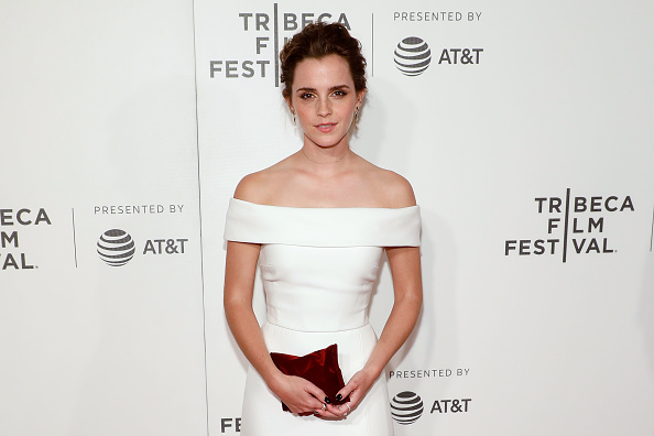Emma Watson is a statuesque goddess in this wedding-inspired gown