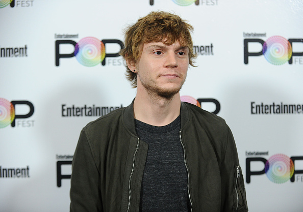 Evan Peters is rocking the hell out of that man bun