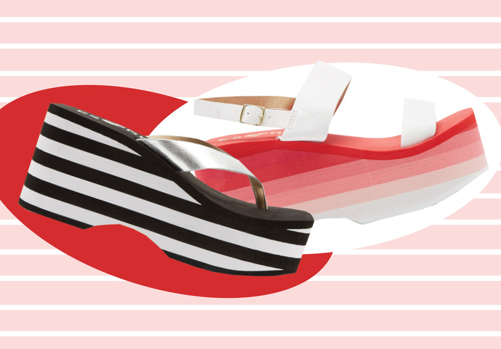 The platform sandal is coming back, we repeat, the platform sandal is coming back