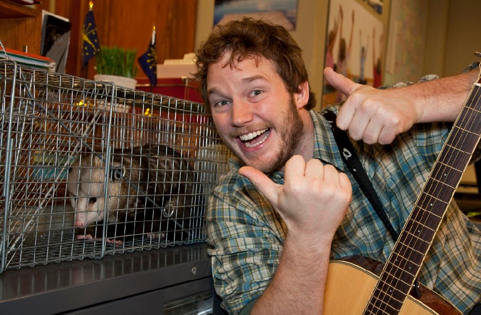 "Chris Pratt just posted a hilarious deleted scene from ""Parks and Rec"""