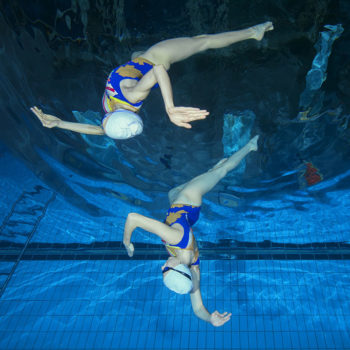 Synchronized swimming filmed upside down is absolutely breathtaking