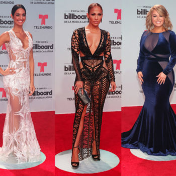 From cutout dresses to bedazzled gowns, here are 11 of our favorite looks from the Billboard Latin Music Awards