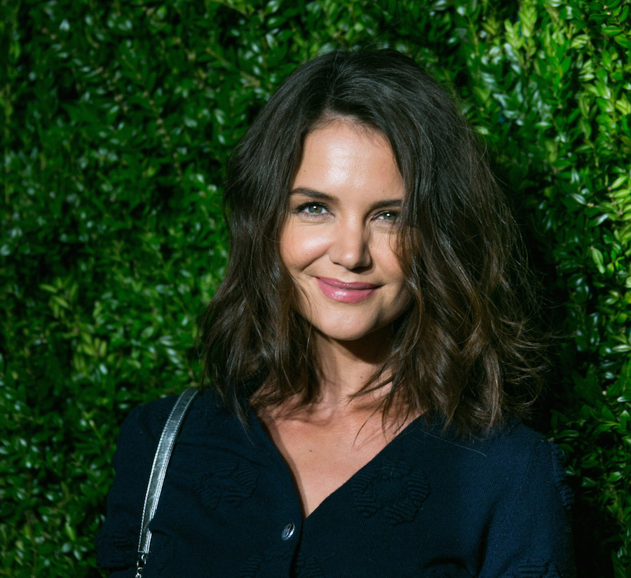 Katie Holmes is giving us pure Kate Middleton vibes in this royal blue gown