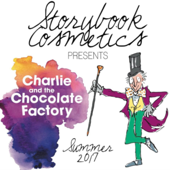 "Storybook Cosmetics just revealed their first shade from the upcoming ""Charlie and the Chocolate Factory"" palette"