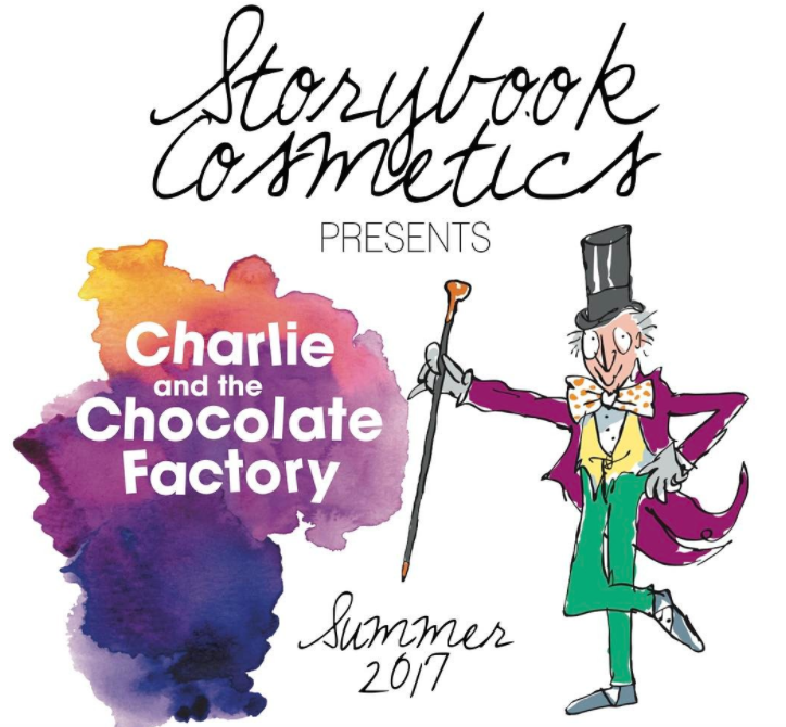 "Storybook Cosmetics teased its shadows for the ""Charlie and the Chocolate Factory"" palette, and we're hungry for more"