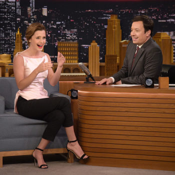 Emma Watson got super mortified about getting Jimmy Fallon confused with Jimmy Kimmel