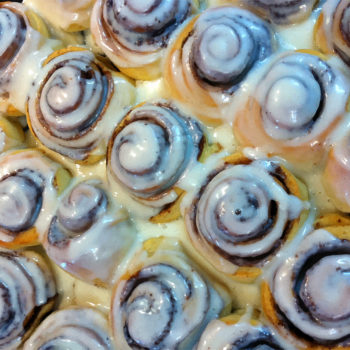 This man carried around an enormous barrel of Cinnabon frosting, and the internet has theories