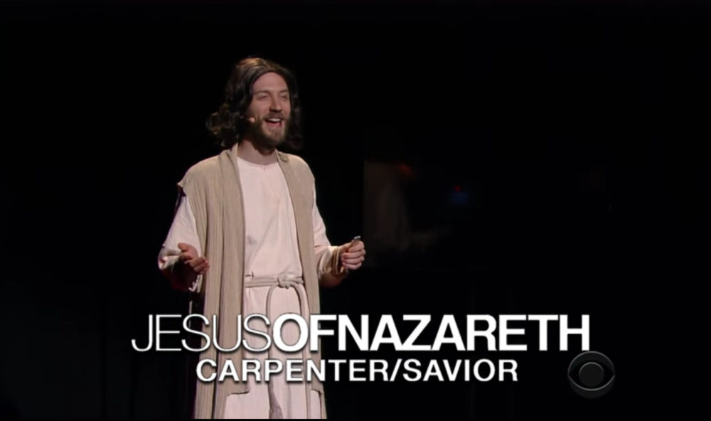 Stephen Colbert imagined what it would be like if Jesus gave a TED talk, and we'd watch