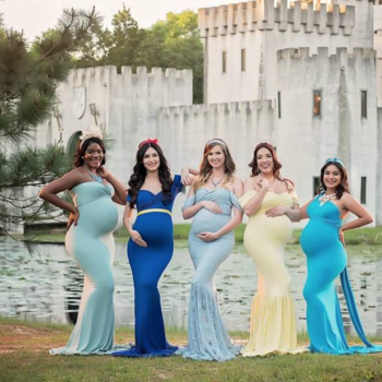 These moms-to-be dressed up as Disney princesses for a maternity shoot, and the photos are breathtaking