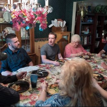 What would you do if Mark Zuckerberg dropped in for dinner uninvited? Because that might happen