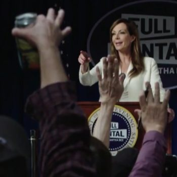 "OMG, Allison Janney came back as C.J. Cregg for Samantha Bee's ""Not the White House Correspondents' Dinner"""