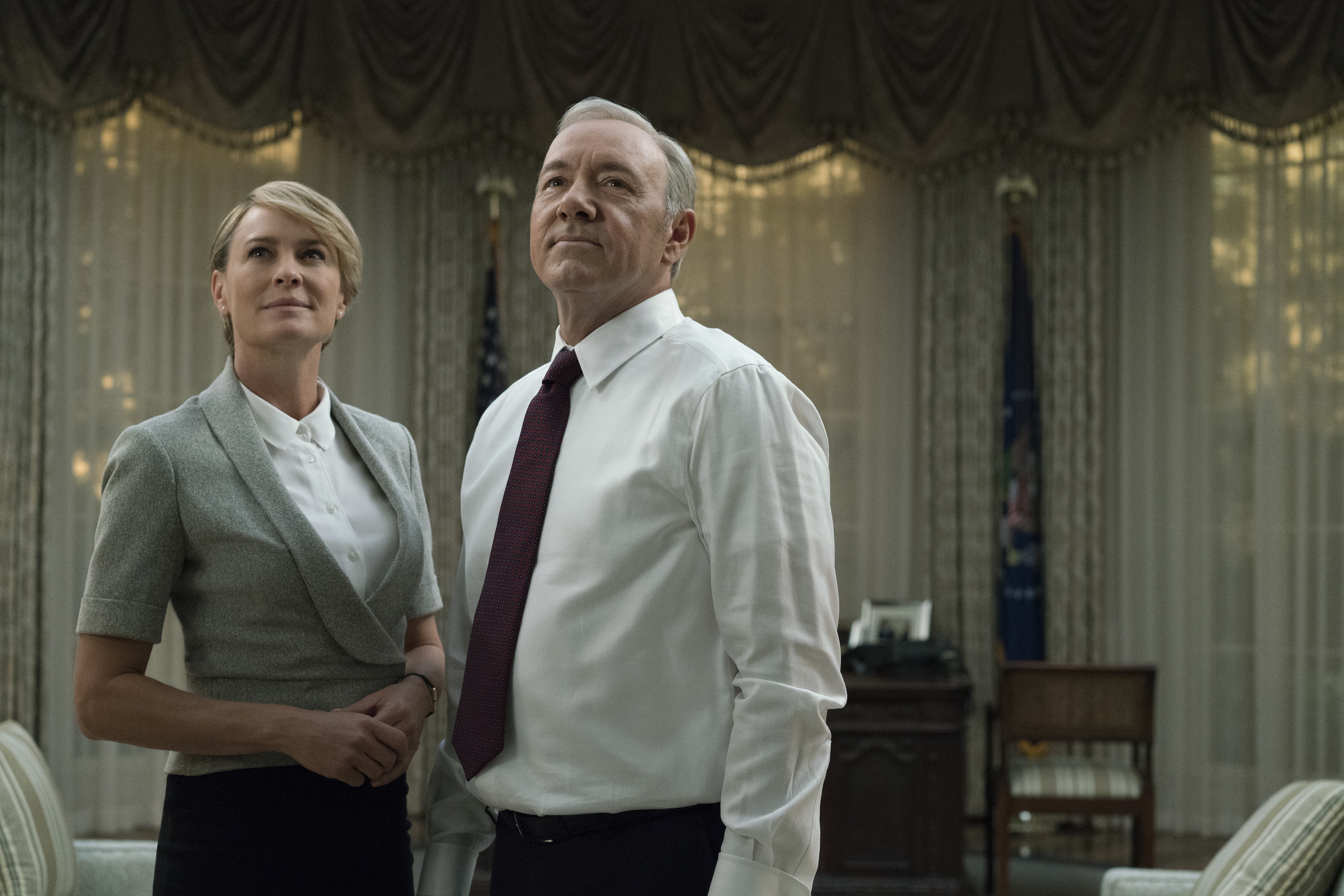 "The Underwoods make a chilling threat to the nation in the first trailer for ""House of Cards"" Season 5"