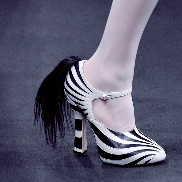 Forget glitter boots: Gucci's Zebra pumps are the next must-have shoe, and they come with a tail!