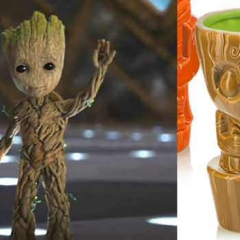 Buy this Baby Groot tiki mug right now, tiny umbrella not included