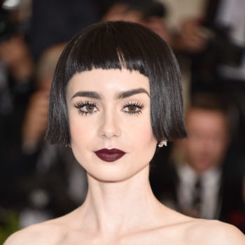Lily Collins became a gothic Strawberry Shortcake at the Met Gala