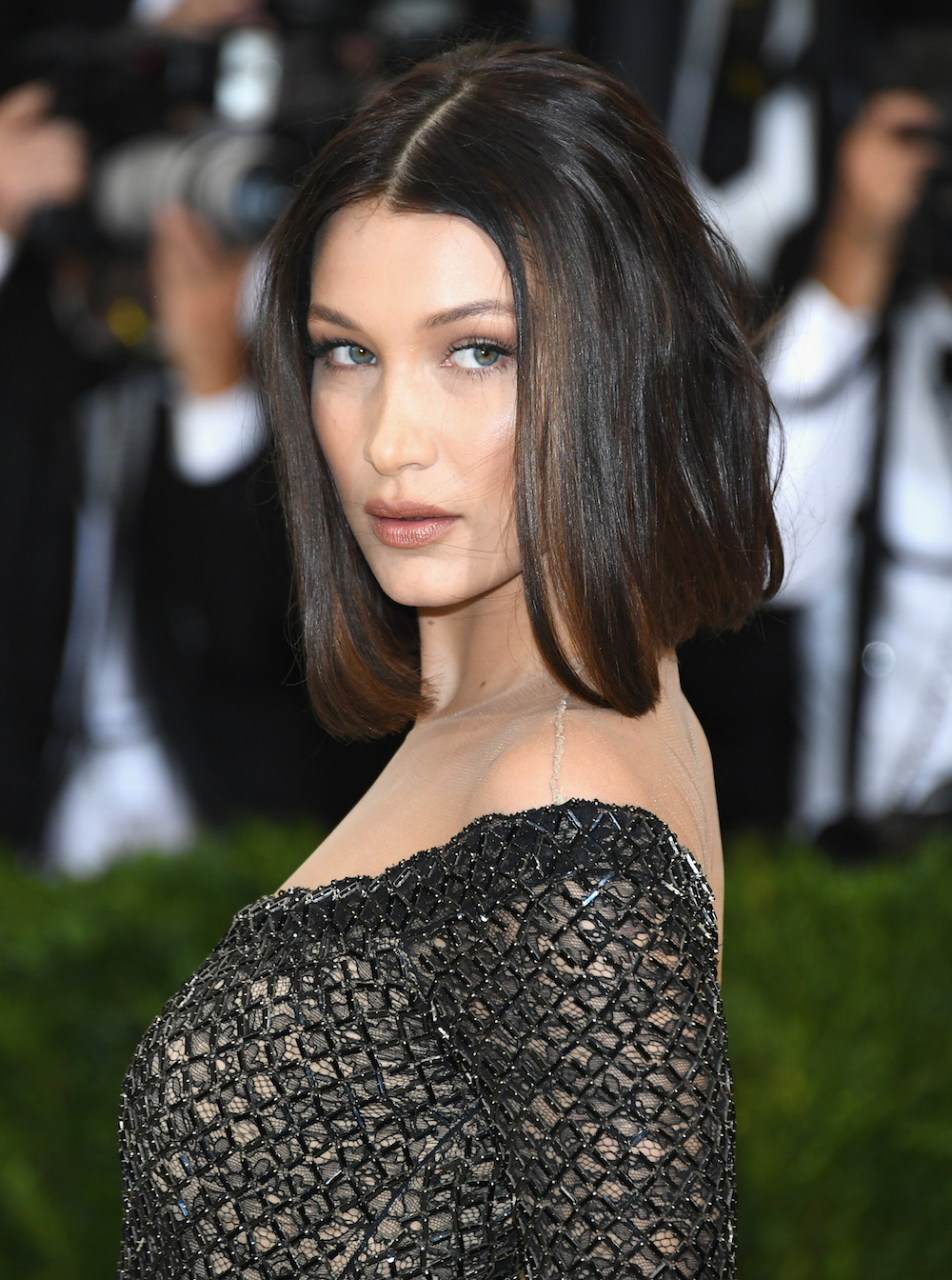 Bella Hadid just wore a gothic nude-illusion onesie to the Met Gala