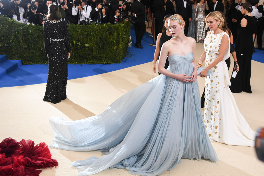 She may play Sleeping Beauty, but Elle Fanning was ~clearly~ channeling Cinderella at the 2017 Met Gala