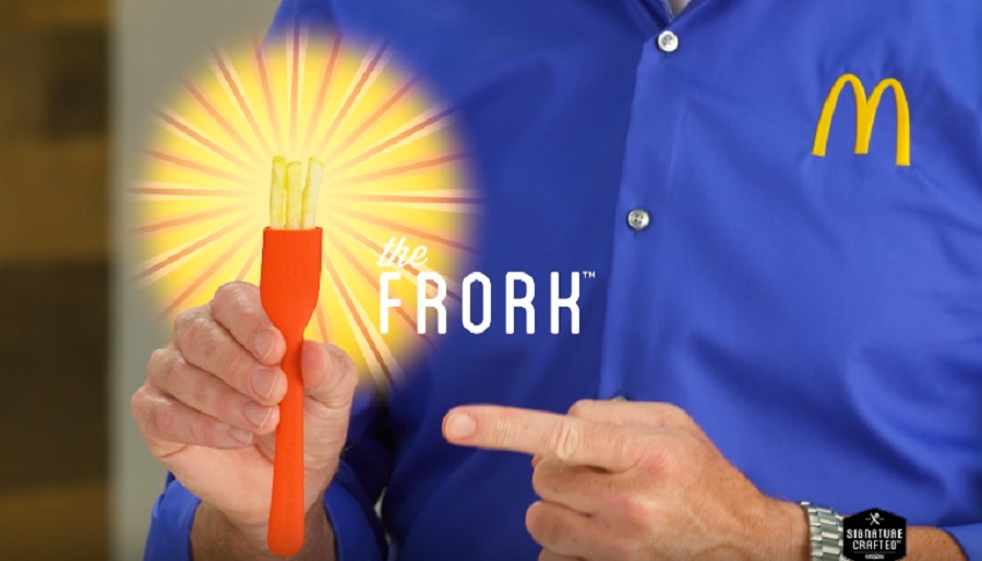 There's a McDonald's fork made of French fries, in case edible utensils are your thing