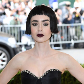 After the Met Gala, a goth Lily Collins ditched the bottom half of her gown