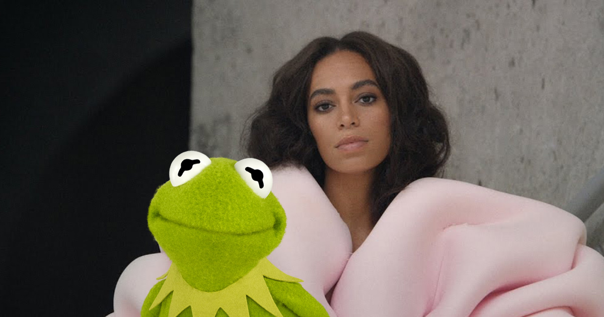 "Someone reinterpreted Solange Knowles' song ""Cranes in the Sky"" with Kermit the Frog, and it's HILARIOUS"
