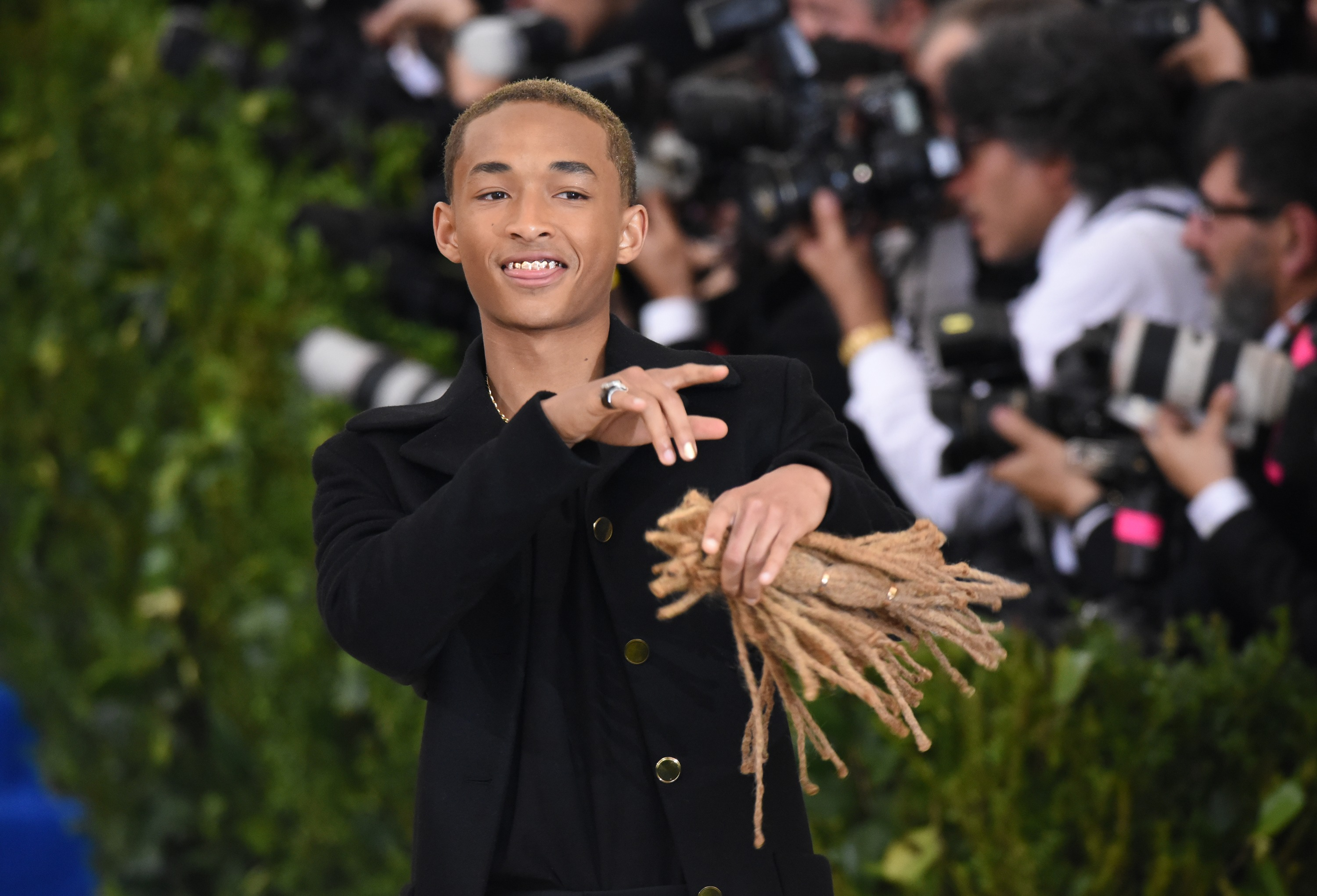 Update: There's a reason Jaden Smith was walking around with his hair at the Met Gala