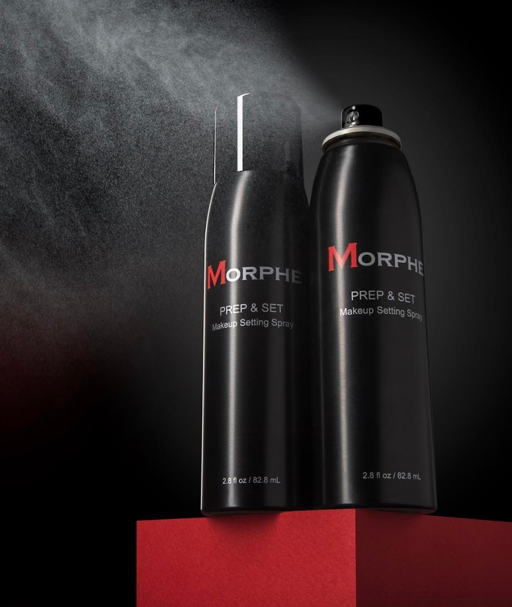 Morphe Brushes is releasing a makeup-setting spray that reminds us of old-school hairspray bottles