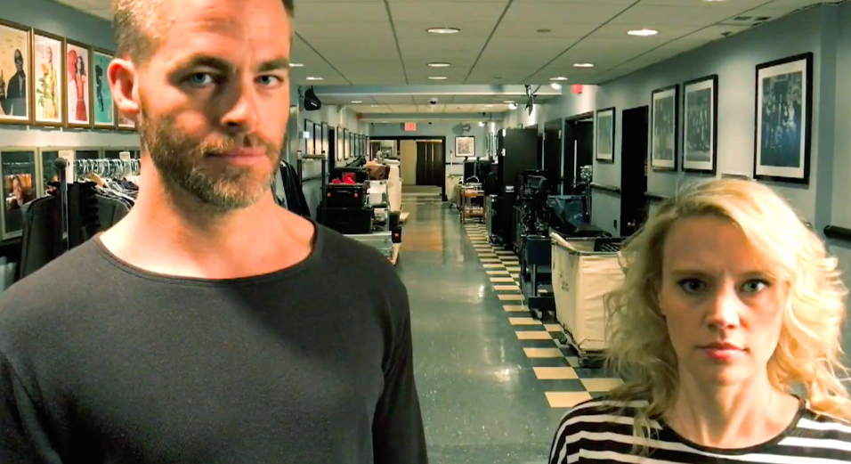 "We're not sure what's going on during Chris Pine's promo for ""SNL,"" but we love it"