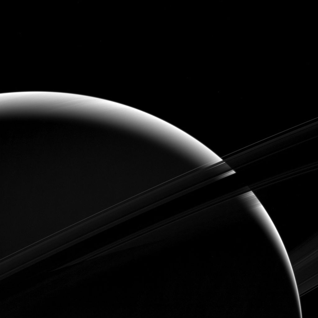 Here's the sound of the spacecraft Cassini passing between Saturn and its rings