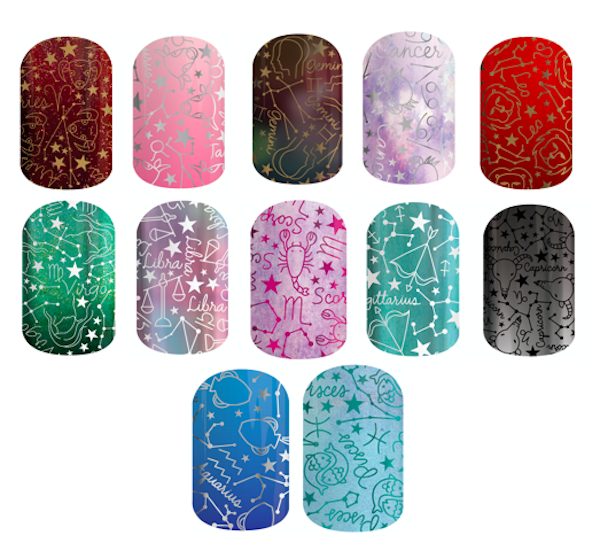 These zodiac nail wraps will have you reaching for the stars