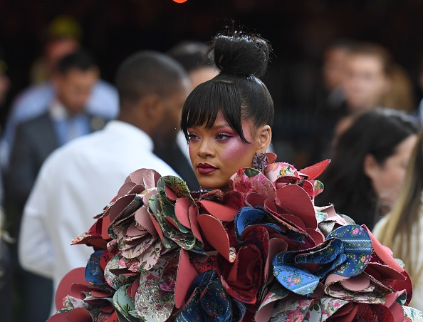 Rihanna is obsessed with her Met Gala sandals, and we don't blame her at all