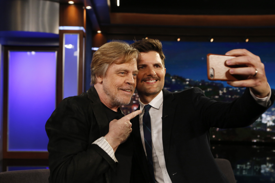 Mark Hamill surprising Adam Scott is the purest thing you'll see all day