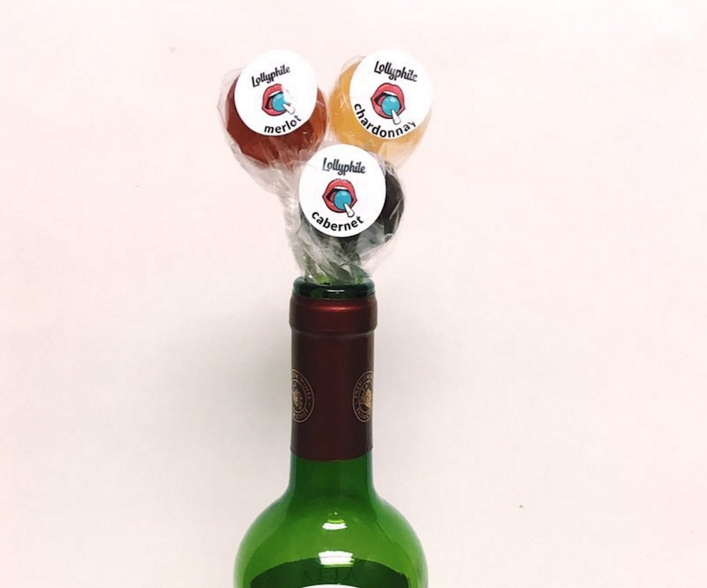 This brand makes wine-flavored lollipops, and we'll cheers to that