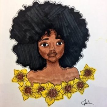 This high school student's beautiful art work is going viral after her teacher posted it on Twitter — and that's some good news we need right now