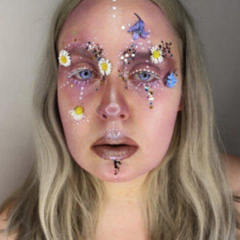 The terrarium eyes beauty trend puts a flower garden on your face
