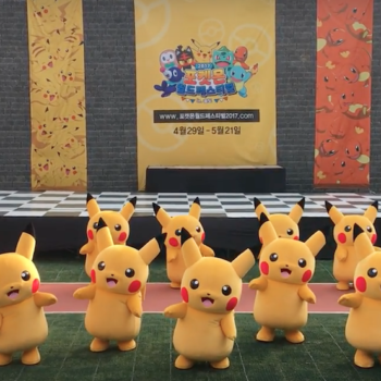 """This Pikachu deflated while dancing to """"Hairspray,"""" and it's as entertaining as it sounds"""