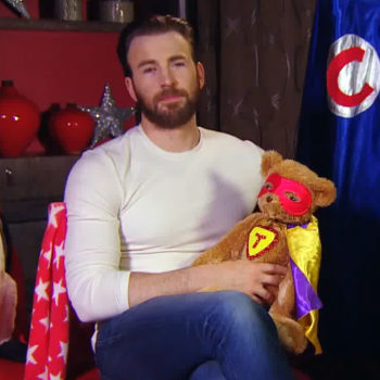 Here's the first look at Chris Evans reading us a bedtime story