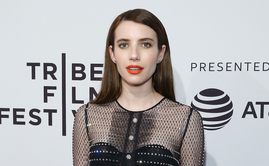 Emma Roberts gave the Canadian tuxedo trend her own unique twist