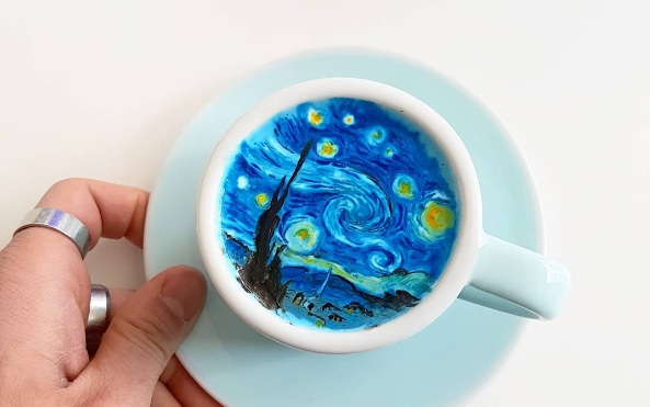 This barista's latte art is blowing our minds and deservedly going viral