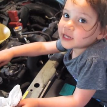 This 3-year-old doing an oil change is better at adulting than we are