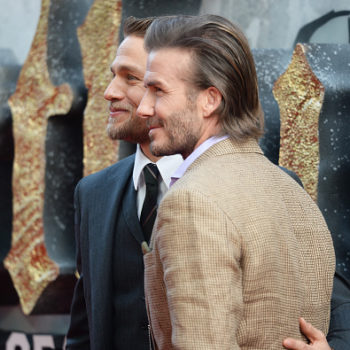 Charlie Hunnam and David Beckham's red-carpet bromance is a sight to behold