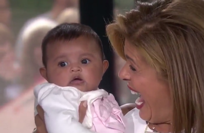 Hoda Kotb's new baby just made her television debut, and we're in love