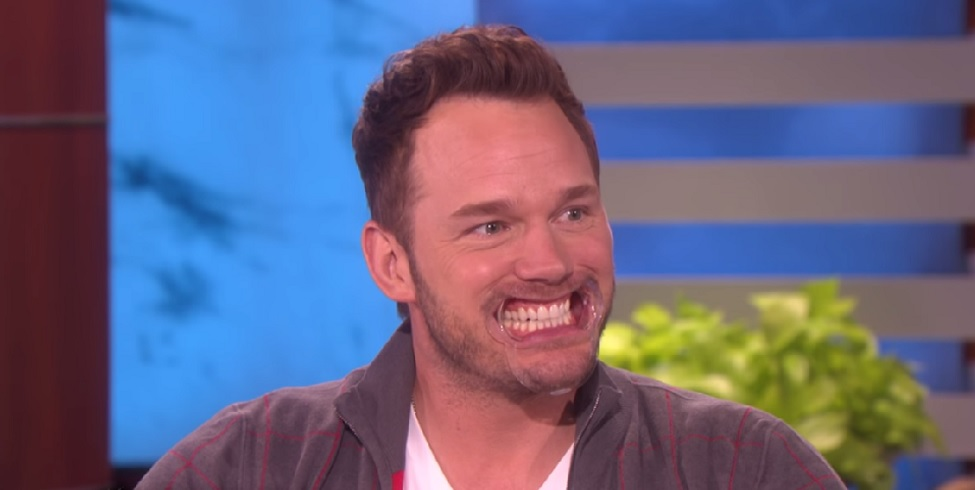 "Chris Pratt catching a case of the giggles on ""Ellen"" is making our day"