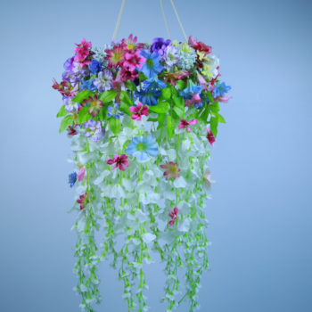This DIY flower chandelier will make your ceiling bloom