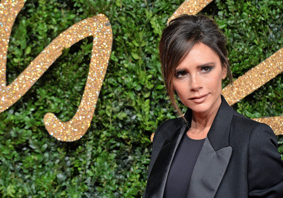 Victoria Beckham broke all the rules with a navy jumpsuit at an all-pink event