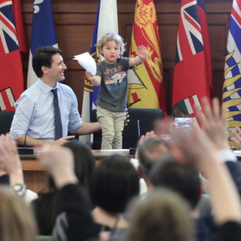 Justin Trudeau brought his littlest son to work, and the cuteness overload is real