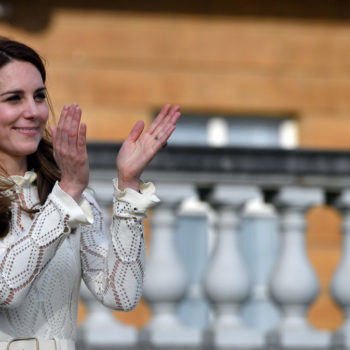 Kate Middleton took part in a water balloon fight at Buckingham Palace, and we really wish we could have been there