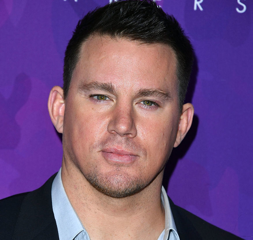 Just Channing Tatum in full-on motorcycle gear, if that speaks to you